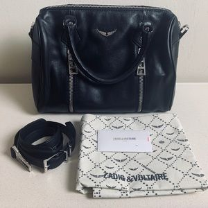 Zadig & Voltaire Sunny Small Black Leather Bag NEW